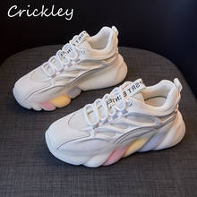 Spring Girl's Shoes Fashion Chunky Sneakers For Boys Running Shoes High Quality Rainbow Sole Comfortable Kids Casual Shoes