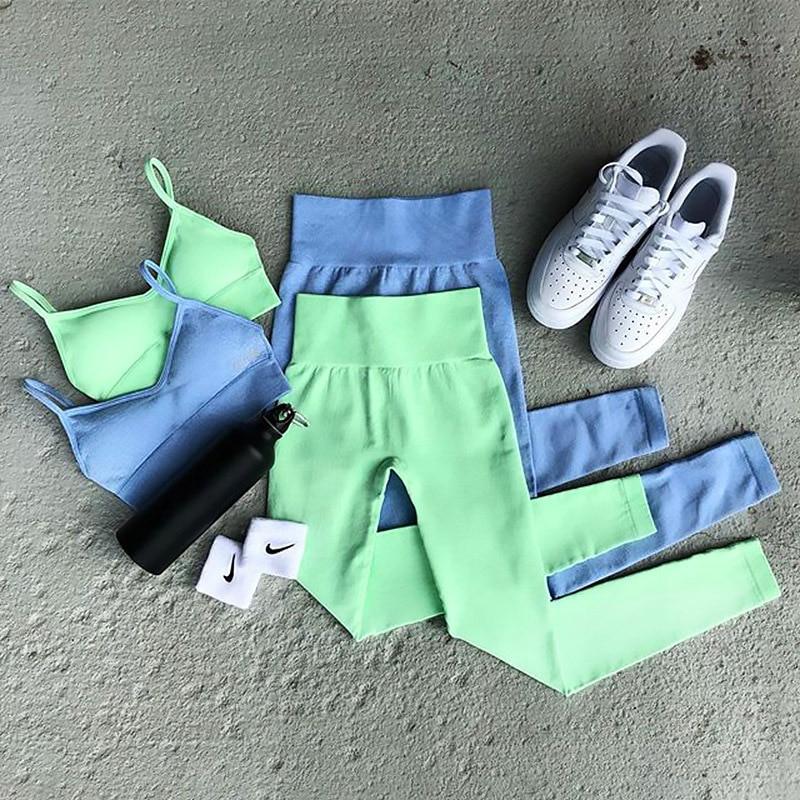 YFGWSP Yoga Gym Set Fitness Suit for Yoga 2020 Sport Workout Clothes for Women Sportswear Woman