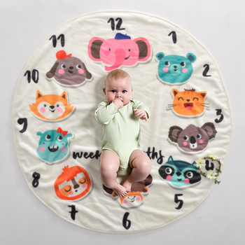 Baby Blanket & Swaddling Newborn Thermal Soft Flannel Blanket Cartoon Bedding 90x90cm Infant baby milestone blanket warm aibeile 2018 new high quality flannel baby blanket newborn super soft cartoon blankets 100 110 cm for beds thick warm kid