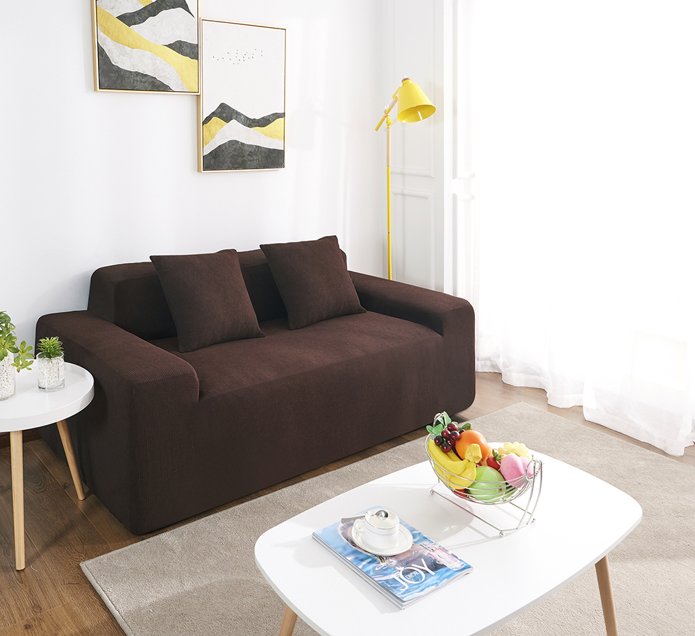 MEIJUNER Waterproof Sofa Cover in Solid Color with High Stretchable Slipcover for Dining Room 14