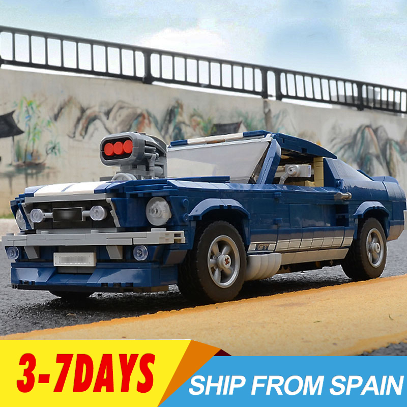21047 Ford Mustang Car With LED Creator Expert Technic Model 10265 Building Blocks Bricks Car Toys Kids Christmas Gifts DG023