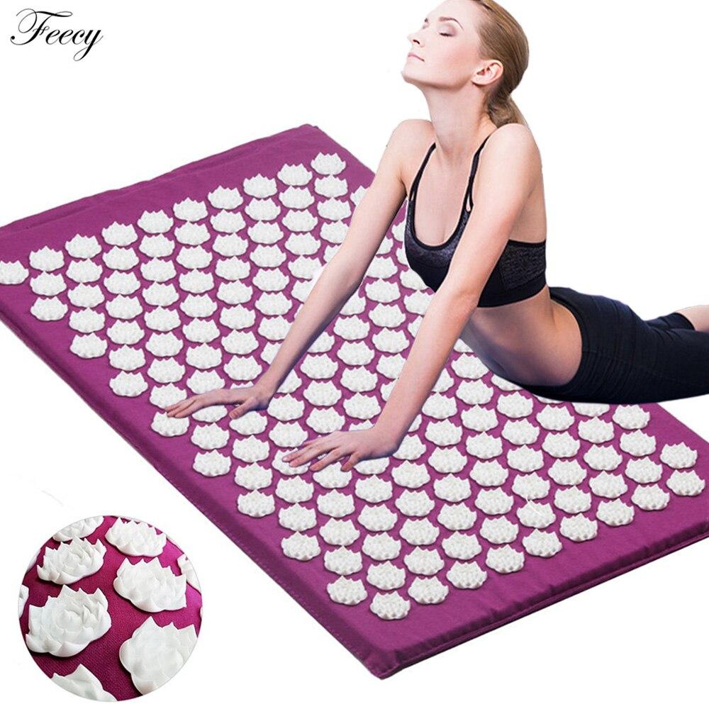 Acupuncture Cushion Massager Back Body Foot Massage Mat Pillow Set Relieve Stress Pain Acupuntura Yoga Mat Massage Pad Shakti
