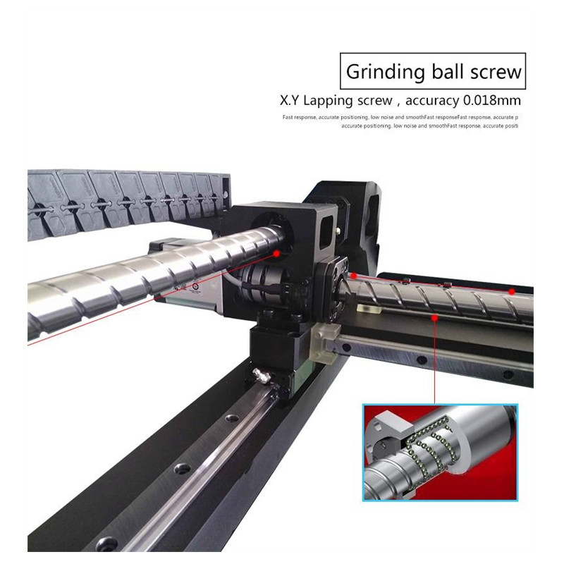 Stage Machine Three Guide Straight Rail Place SMT880 Vertical PCB Installation Track Pick