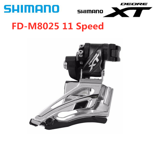 Shimano Deore XT FD M8025 2x11 سرعة الدراجة الجبلية الجبهة Derailleur عالية المشبك المزدوج سحب