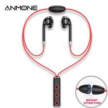 цена на ANMONE Bluetooth Earphone in-ear Wireless Earphones with microphone Sport Magnetic Earpiece earbuds for phone necklace ear buds
