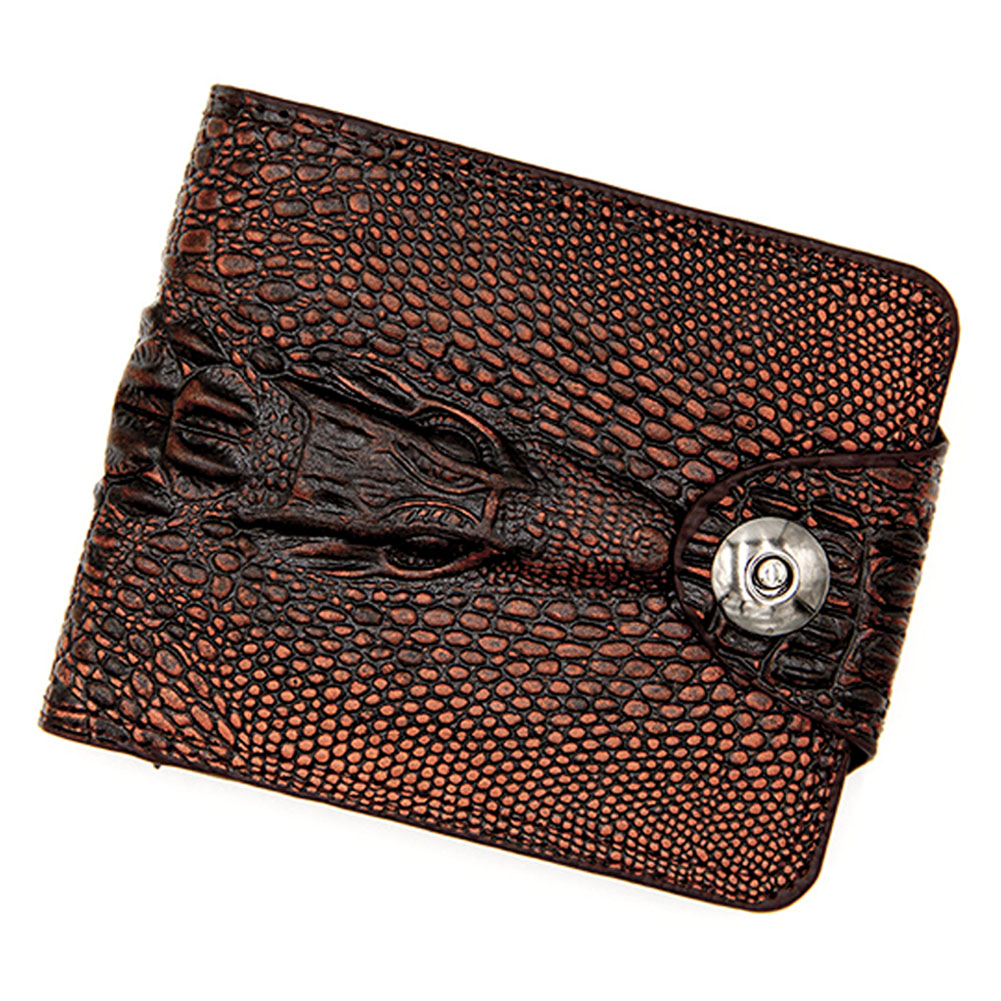Men Wallet Card-Holder Magnetic-Buckle Multi-Pocket Bifold Practical Fashion Gift Classic