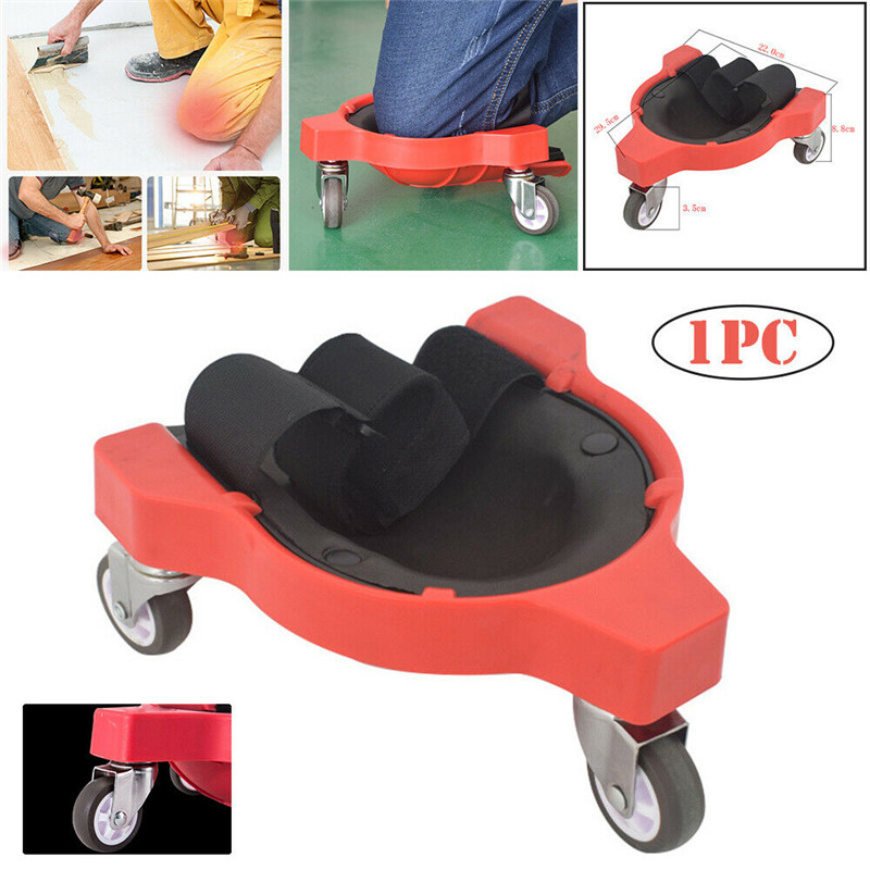 Universal Multi-functional Rolling Knee Protection Pad With Wheel Built In Foam Padded Laying Platform Wheel Kneel Pad Tool