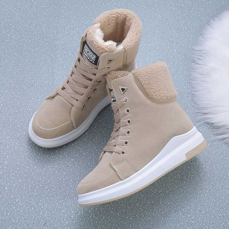 Женские зимние ботинки со шнуровкой модные женские ботильоны