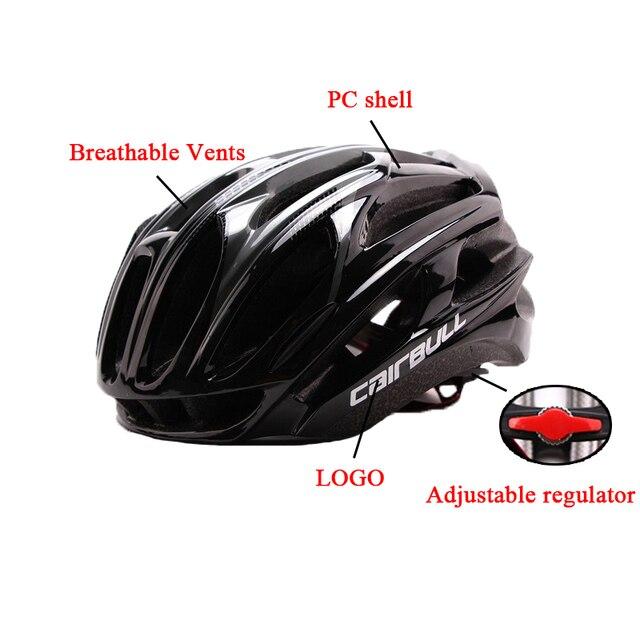 Ultra-luz de segurança esportes capacete de bicicleta de estrada capacete de bicicleta integralmente moldado capacete de bicicleta de estrada de montanha capacete ajustável 4