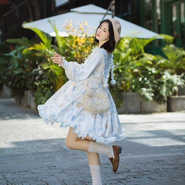 Фото kawaii/платье в стиле лолиты для девочек платье с матросским цена
