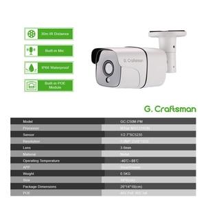Image 2 - 4ch 5MP Audio POE Kit H.265 System CCTV Security NVR Outdoor Waterproof IP Camera Surveillance Alarm Video Record G.Craftsman