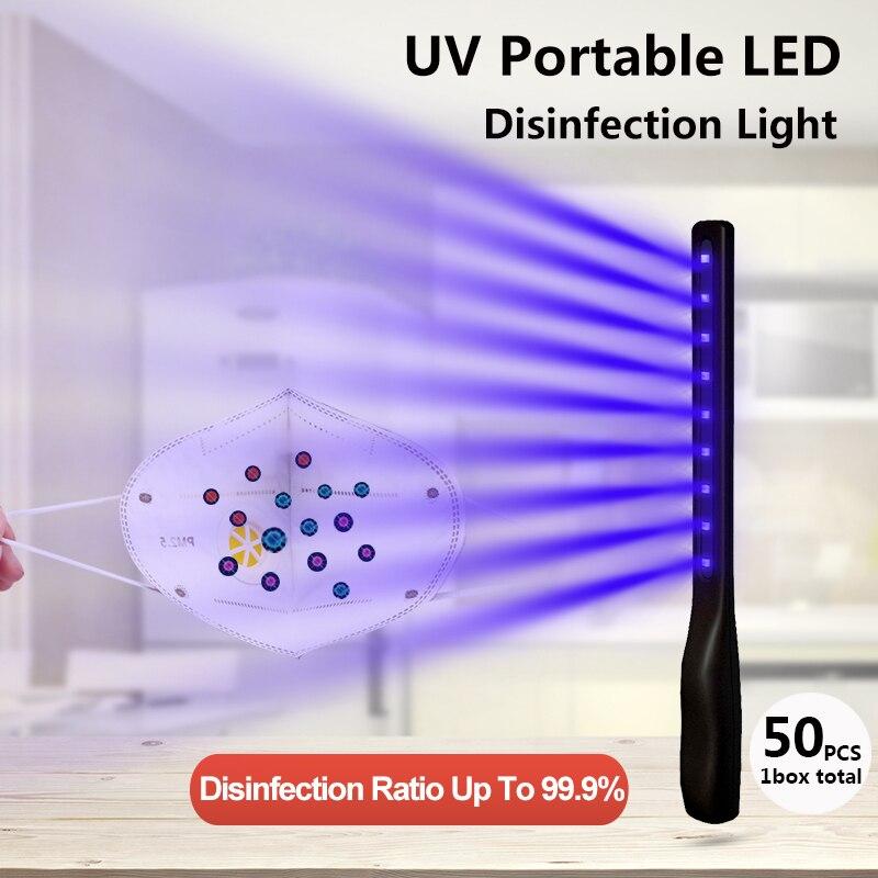 Funrover LED Portable UVC Light Sterilizer UVC Lamp Sanitizer Stick Ultraviolet Lamp Bactericidal Disinfection Germicidal Lamp