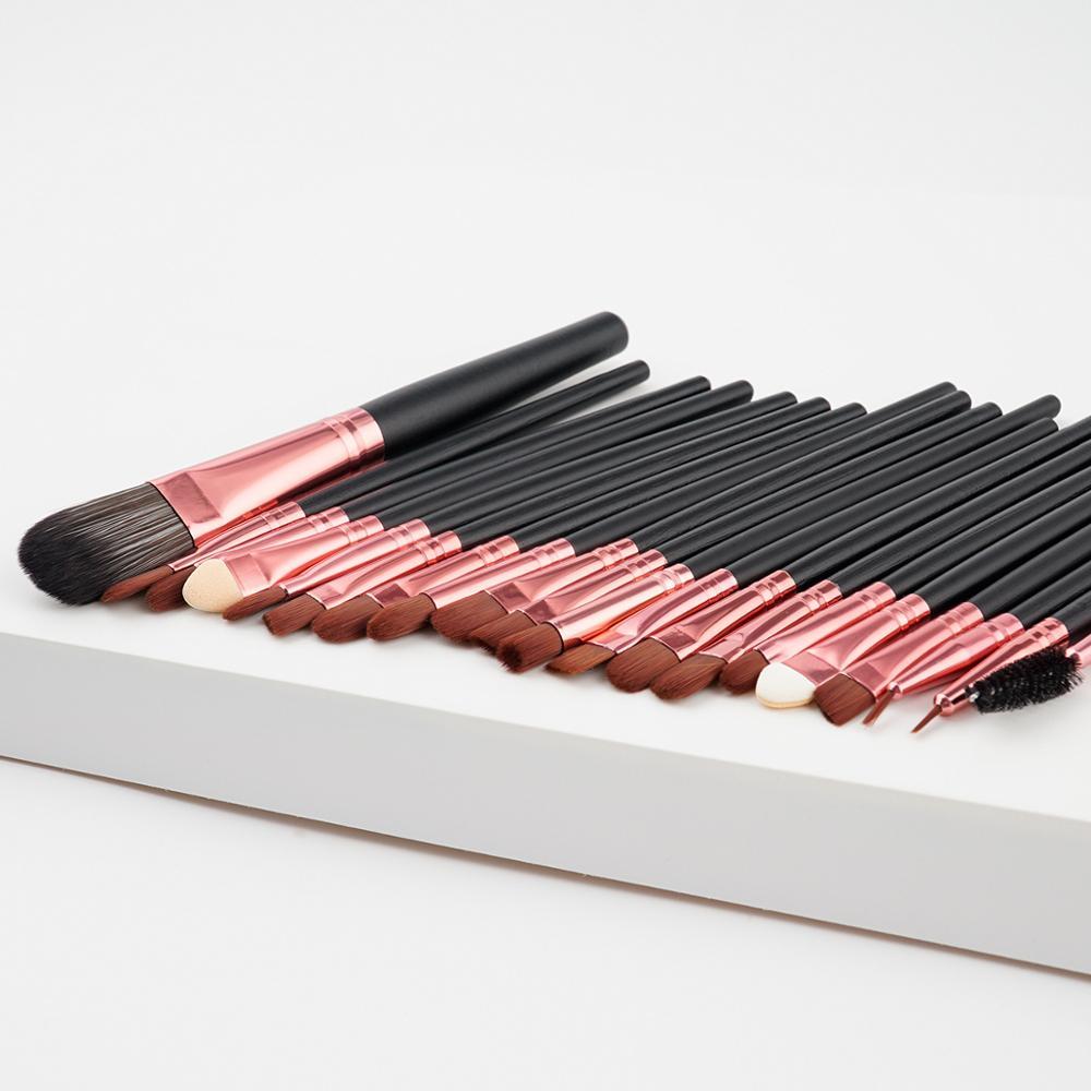 20Pcs Makeup Brush Sets Eye Shadow Foundation Powder Eyeliner Eyelash Lip Make Up Brushes Cosmetic Beauty Tool Kit Hot