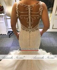 Image 5 - Sexy beading mermaid wedding dress with transparent nice back fish wedding dress