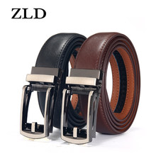 ZLD cintura da uomo nera e marrone marchio di moda di lusso cintura a cricchetto con fibbia automatica cintura a scatto confortevole cintura da uomo di design regalo