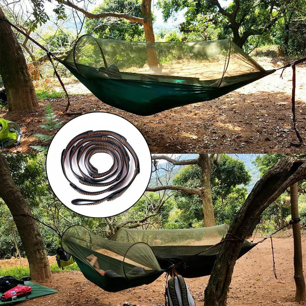 1Pcs Anti-Gravity Yoga Hammock Extension With Chrysanthemum Rope High Strength Safety Flat Belt Rope Climbing Hammock