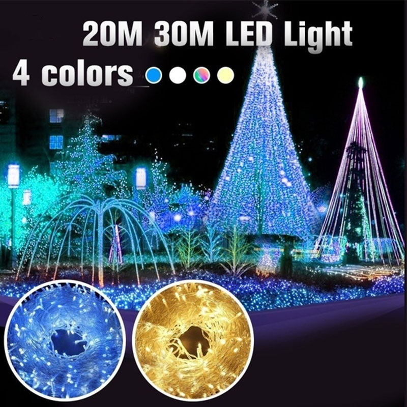 220V Super Bright Starry String Lights Landscape Lamp Outdoor Led Fairy Lights Romantic Festival Party Lights String Xmas Party
