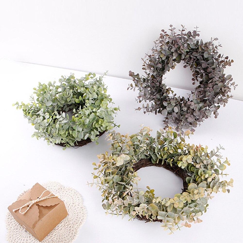>Artificial Green Plant Wreath Simulation Green Plant Garland Home Office Decor wreath <font><b>farmhouse</b></font> decor hawaii <font><b>Style</b></font> party