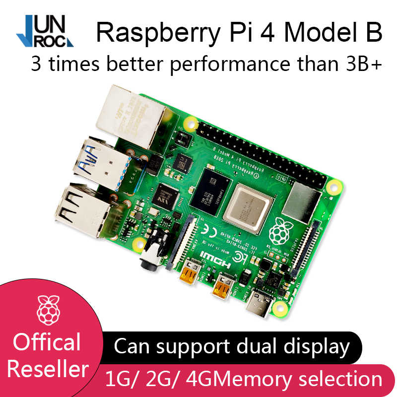 2019 جديد وأصلي راسبيري Pi 4 موديل B RAM 2G 4G 4G Core 1.5Ghz 4K Micro HDMI Pi4B 3 سرعات من Raspberry berr Pi 3B +