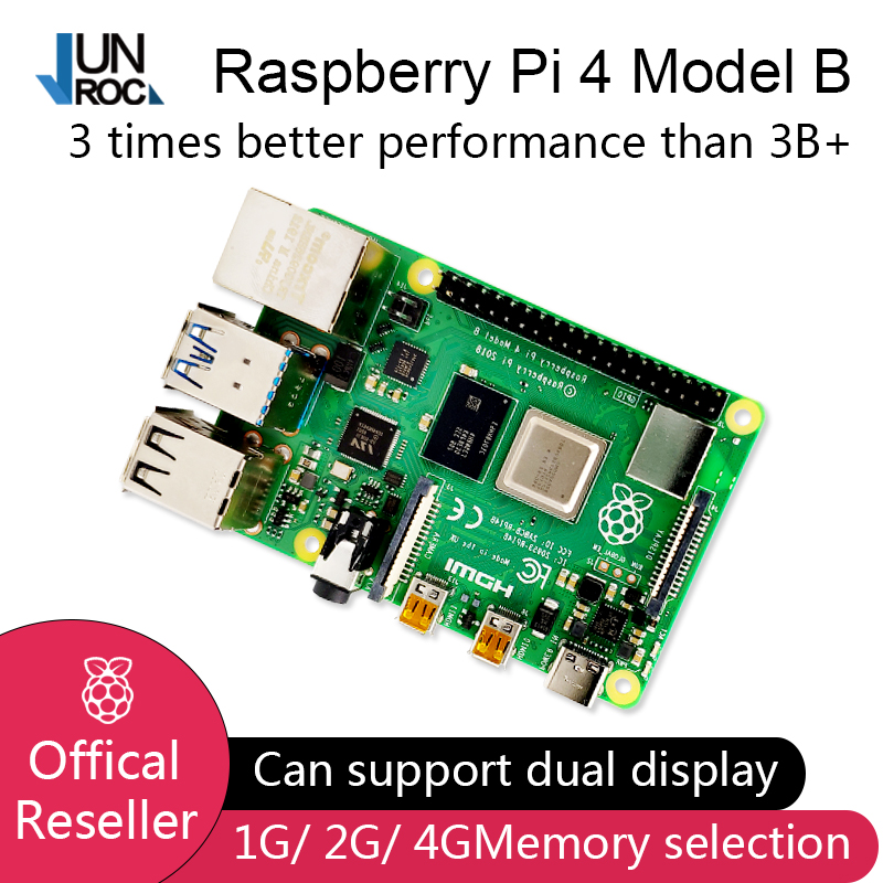 2019 New Original Official Raspberry Pi 4 Model B RAM 1G 2G 4G 4 Core 1.5Ghz 4K Micro HDMI Pi4B 3 Speed Than Raspberr Pi 3B+