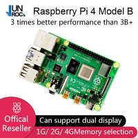 2019 nouveau Original officiel framboise Pi 4 modèle B RAM 2G 4G 4 Core 1.5Ghz 4K Micro HDMI Pi4B 3 vitesses que framboise Pi 3B +