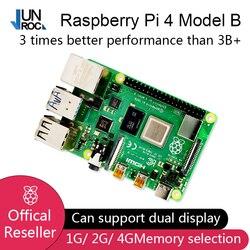 2019 novo original oficial raspberry pi 4 modelo b ram 1g 2g 4g 4g 4 núcleo 1.5 ghz 4 k micro hdmi pi4b 3 velocidade do que raspberr pi 3b +