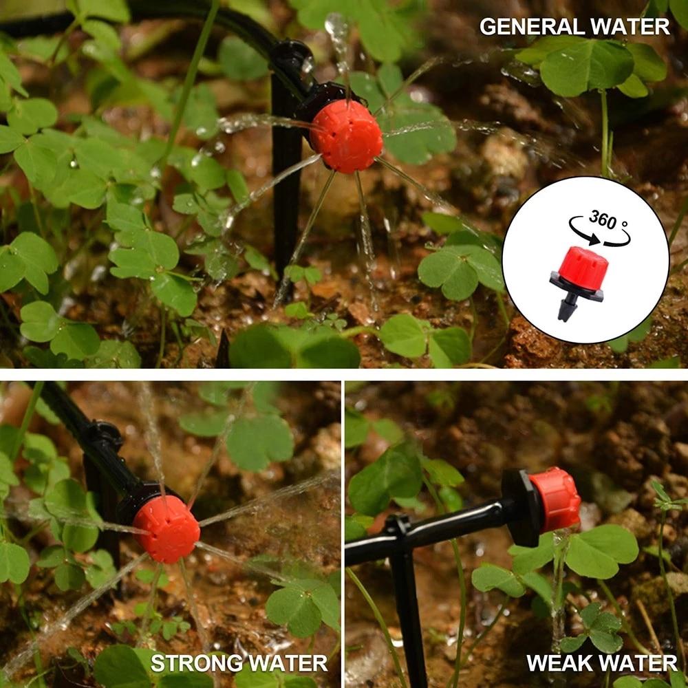 H968377209e0b4e4ca3db854b87737196v Garden Drip irrigation Hose Connector Spray Sprinkler Automatic Irrigation Garden Irrigation System Autowatering