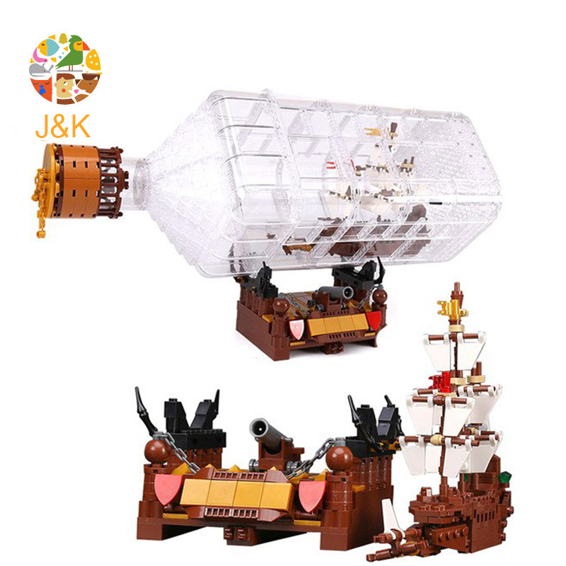 <font><b>16045</b></font> 775Pcs Movies Series The Ship in the Bottle Set Model Building Block Bricks Educational Toys for Children Gift image