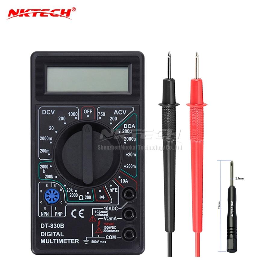 NKTECH DT830B skaitmeninis multimetras, kišeninis voltmetras, ampermetras, ommetris, kintamos srovės nuolatinės srovės atsparumas, OHM, daugiatesteris, nešiojamas