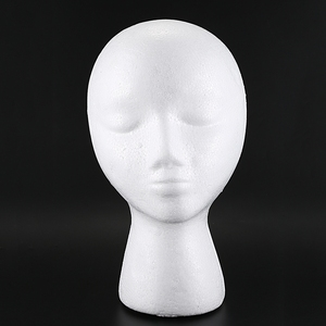 Styrofoam Foam Mannequin Wig Head Display Hat Cap Wig Holder White Foam Head