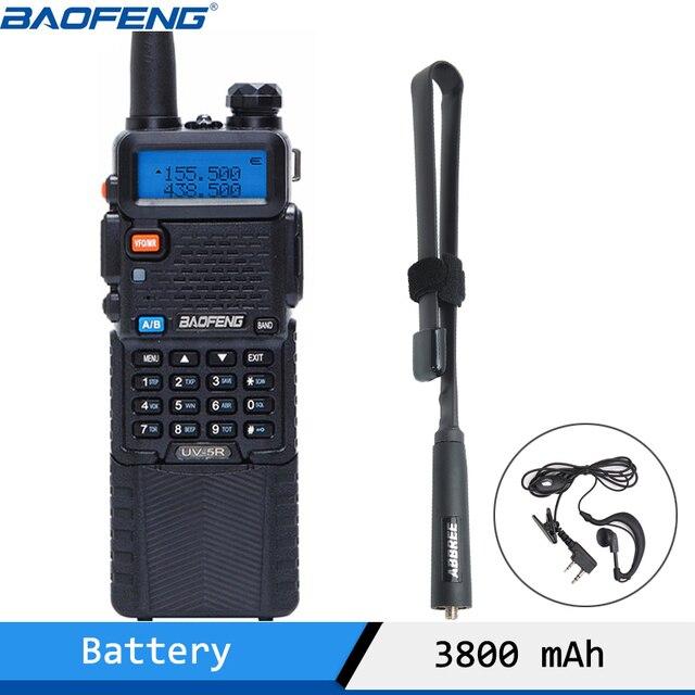Bộ Đàm Baofeng UV 5R Bộ Đàm 1800/3800 MAh 5W VHF UHF Di Động Hàm Đài Phát Thanh UV 5R CB Đài Phát Thanh với NA 771/Chiến Thuật Ăng Ten