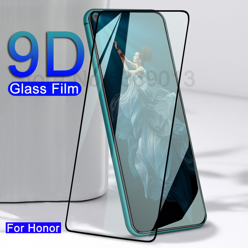9D Full Glue Protective Glass On For Honor 20 10 9 8 Lite V30 V20 V10 9X 8X Tempered Glass Screen Protector Safety Film Glass