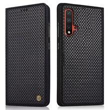 Genuine Leather Flip Case For Huawei Nova 5 Cover Magnetic 5i Pro Cases Phone Fundas