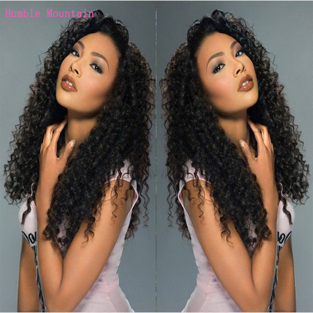 Long Black  Deep Curly Lace Frontal Wig 150% Density 13X4 Lace Front Human Hair Wigs Soft  Natural Hair With Baby Hair For Women