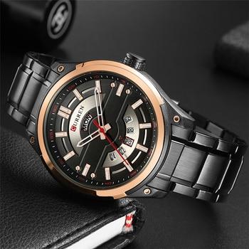 CURREN 8319 Watches Waterproof Date Calendar Wristwatches With Box