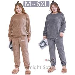 Conjunto de pijama de talla grande, 5XL y 6XL, ropa de invierno cálida, camisón para mujer, 140kg