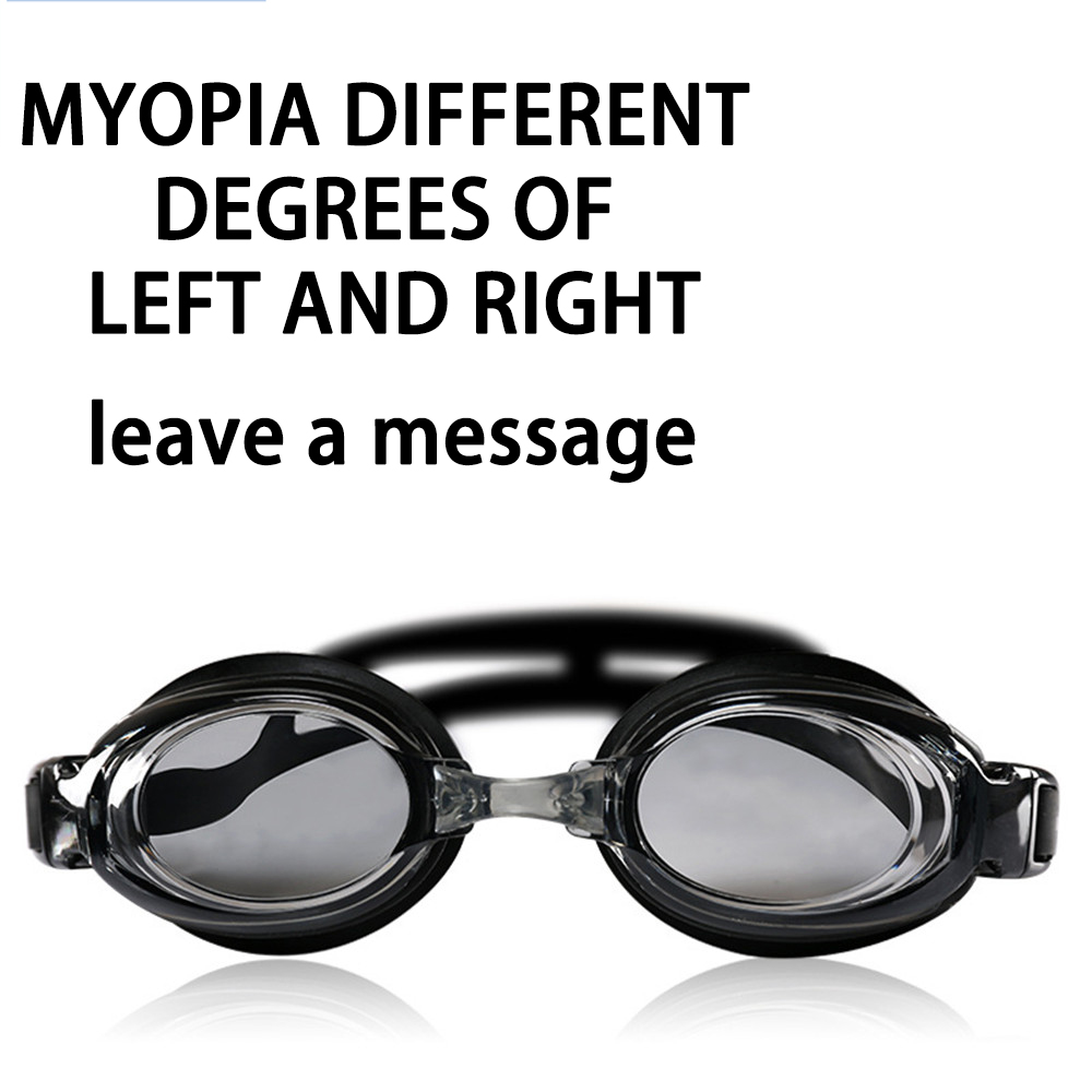 Оптическая близорукость плавательные очки 200-800 градусов Силиконовые противотуманные водная диоптрия плавательные очки для мужчин и женщин очки по рецепту - Цвет: Different degrees