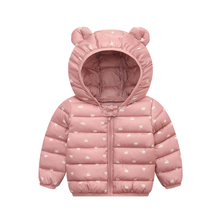 Kid Down Coats Infant Snow Wear Hooded Coats Baby Girls Boys Cartoon Print Jackets Autumn Winter Warm Outerwear Children Clothes 2016 winter boy girls down jacket outerwear children brand design zipper hooded down coats good quality baby boys warm clothes