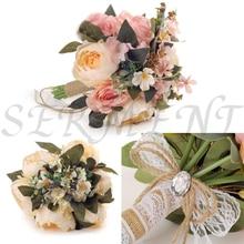 Bridesmaid bouquet Wedding Flowers Bridal Bouquets Ramos De Novia Artificiales 12.99inch 0.25kg Rose Bouquet Accessories