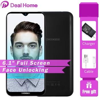Перейти на Алиэкспресс и купить Doogee X90 6,1 дюйма HD экран водослива 1 ГБ ОЗУ 16 Гб ПЗУ 3400 мАч Android 8,1 MT6580A/WA четырехъядерный идентификатор лица Мобильный телефон Смартфон