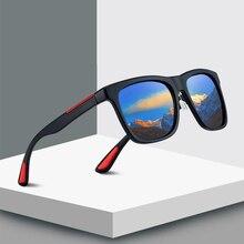 Vintage Square Sunglasses Men Brand Designer Oversized Mirro