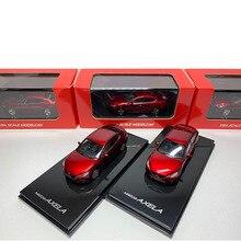 Модель автомобиля из сплава под давлением в масштабе 1:64, металлическая модель Mazda 3 AXELA, имитация автомобиля, украшение для демонстрации игру...