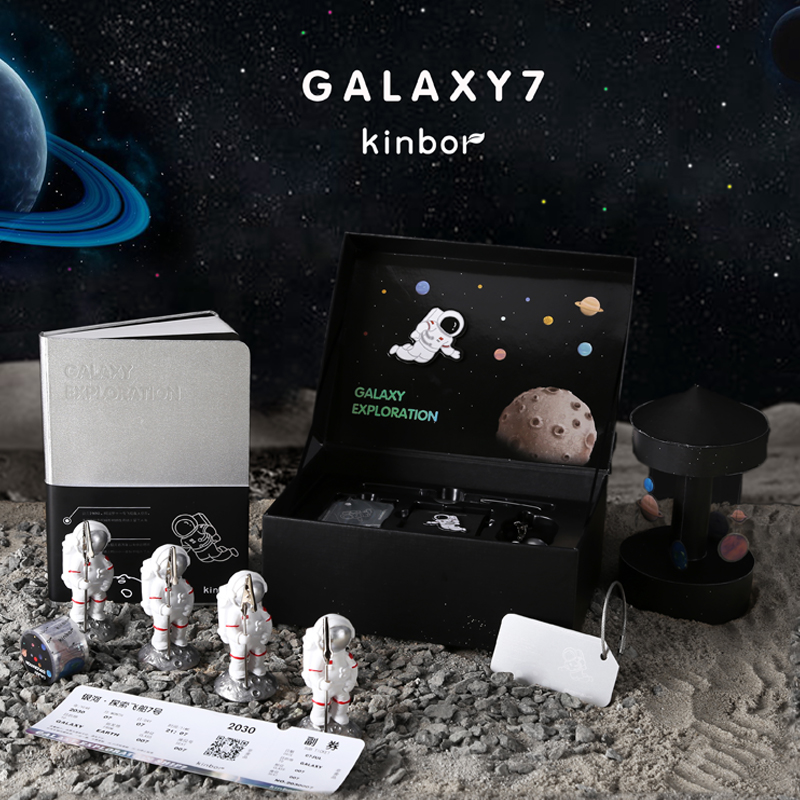 Kinbor Premium Notebook Journal Set Galaxy Exploration Theme B6 Size Gift Packaging Notebooks School Suppliers Tools Stationery Notebooks Aliexpress