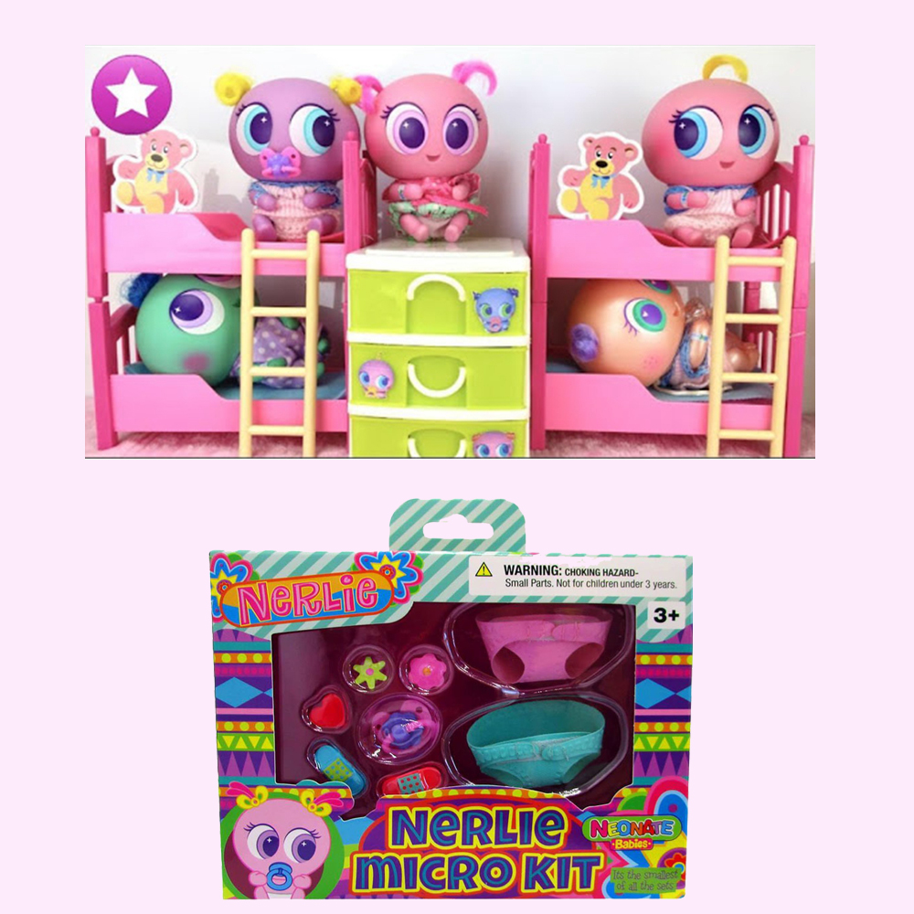 Ksi-meritos LOL Juguetes Casimeritos Toy With Neonate Nerlie Micro Kit Nerlie Babies Toy Accessories Chivatita For Kids Toys 2
