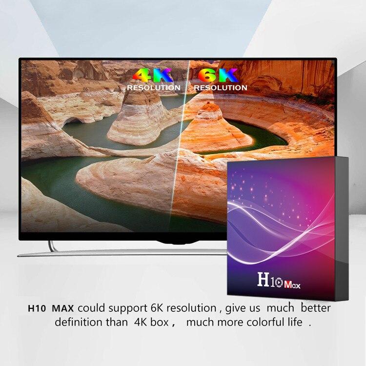 H10 MAX TV, pudełko Android 10.0 Allwinner H616 4GB RAM 32GB ROM Smart tv Box tv, pudełko 2.4G wifi 6K H.265 Netflix Youtube Google odtwarzacz multimedialny