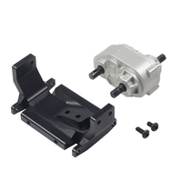 Metal Gearbox Transfer Case with Mount for SCX10 / D90 1/10 RC Crawler Car RC Metal Transfer Case