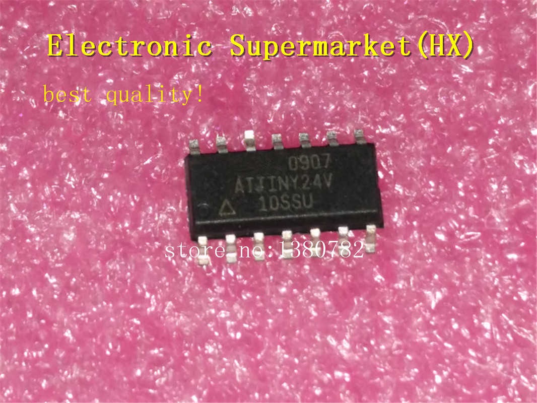 Free Shipping 50pcs/lots ATTINY24V-10SSU  ATTINY24V  ATTINY24  SOP-14 New Original  IC In Stock!
