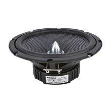 1PCS 6.5 Inch Audio Car Midrange Bass Speakers Home Theater 4 Ohm Glass Fiber Bullet Woofer Loudspeaker DIY Sound System