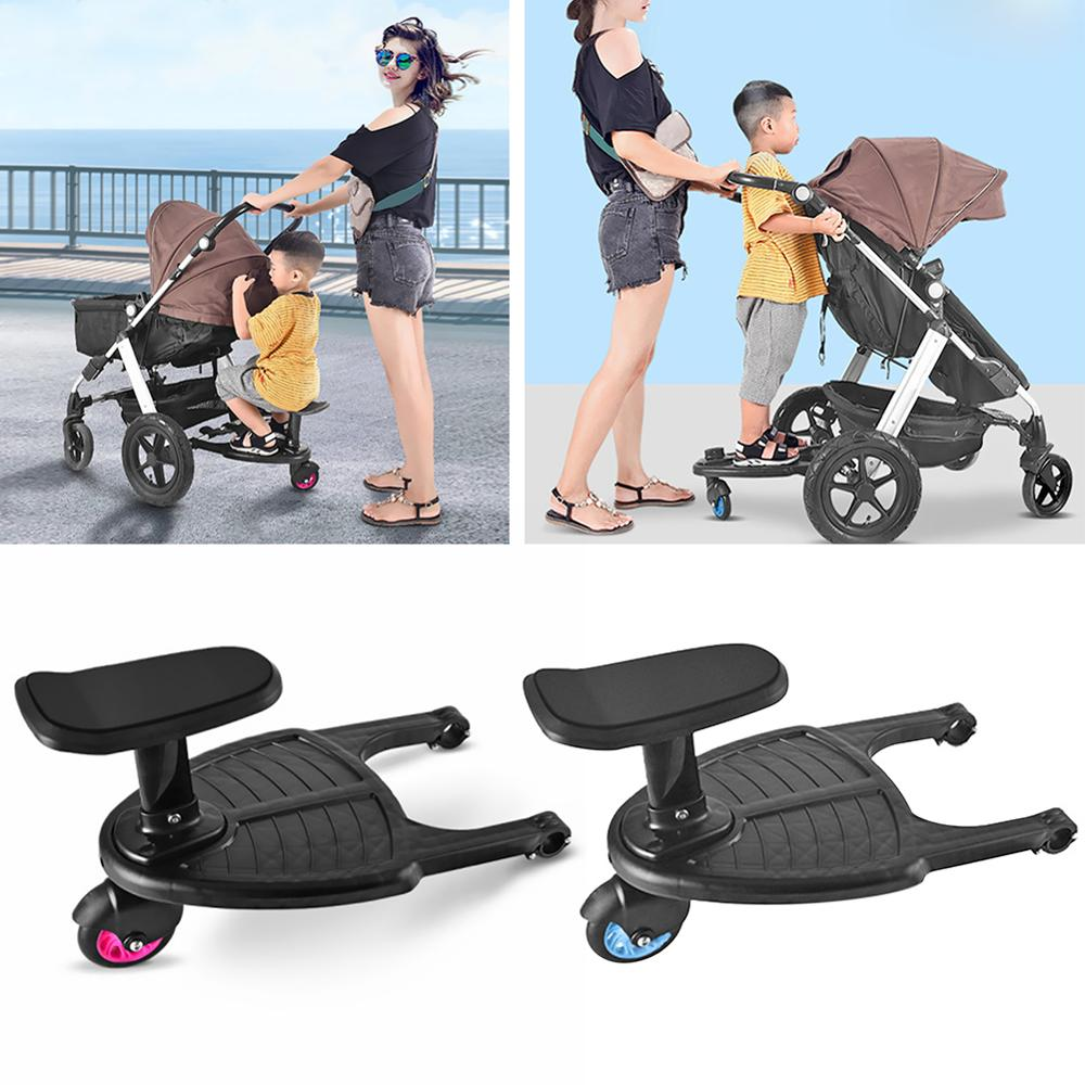 Baby Trolley Auxiliary Pedal Child Standing Plate Adapter Stroller Pedal Travel Cart Accessories Compressive Deformation