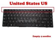 Teclado de ordenador portátil para Teclast F7 14,1 RU PRIDE K2381 343000041 ruso RU inglés EE. UU. Sin marco